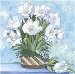 Papel Decoupage Arte Francesa Litoarte AFQG-092 30,7x30,7cm Flor Branca