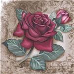 Papel Decoupage Arte Francesa Litoarte AFQG-095 30,7x30,7cm Rosas Vermelha
