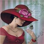 Papel Decoupage Arte Francesa Litoarte AFQG-097 30,7x30,7cm Dama de Vermelho
