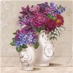 Papel Decoupage Arte Francesa Litoarte AFQG-104 30,7x30,7cm Vasos de Flores