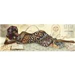 Papel Decoupage Arte Francesa Litoarte AFVE-041 22,8x62cm Africana Lendo