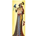Papel Decoupage Arte Francesa Litoarte AFVE-055 22,8x62cm Angolana com Arara Azul