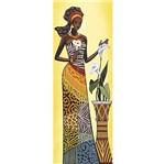 Papel Decoupage Arte Francesa Litoarte AFVE-056 22,8x62cm Angolana com Copos de Leite