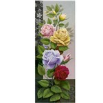 Papel Decoupage Arte Francesa Litoarte AFVM-059 17x42cm Rosas Coloridas
