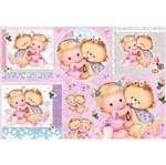 Papel Decoupage Grande Bebê Ursinha LD-765 - Litocart
