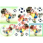 Papel Decoupage Grande Futebol Brasil Ld-706 Litocart 48x34