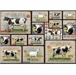 Papel Decoupage Litoarte PD-962 34,3x49cm Vacas e Cabras Vintage