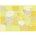 Papel Decoupage Litocart LD-109 34x48cm Coração Amarelo