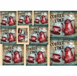 Papel Decoupage Litocart LD-860 34x48cm Coffee Time