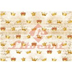Papel Decoupage Litocart LD-827 34x48cm Coroas Fundo Marrom