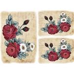 Papel Decoupage Litocart LD-914 34x48cm Flores e Botões