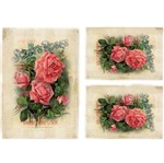 Papel Decoupage Litocart LD-942 34x48cm Belas Rosas