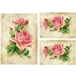 Papel Decoupage Litocart LD-943 34x48cm Rosas e Manuscrito
