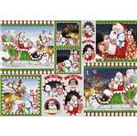 Papel Decoupage Natal Litoarte PDN-119 34,3x49cm Papai Noel e Animais