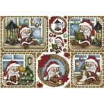Papel Decoupage Natal Litoarte PDN-126 34,3x49cm Papai Noel Pequeno
