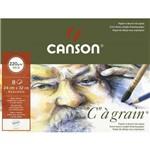 Papel Desenho C. Á Grain 220 G/m² Pochette A-4+ 24 X 32 Cm com 8 Folhas Canson