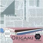 Papel Dobradura Origami Toyo Alphabetic Char 015 X 015 Cm Dgo15-36e