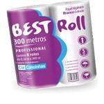 Papel Higienico Best Roll Folha Simples 300m Cia Canoinhas Fd.c/08