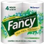 Papel Higiênico Folha Dupla Fancy 4X30m