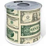 Papel Higiênico Macio Folha Tripla Decorado Notas de Dollar