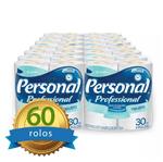 Papel Higiênico Personal Folha Simples Fardo com 60 Rolos Santher