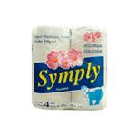Papel Higiênico Symply Folha Simples Neutro FD C/ 64 Rolos