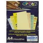 Papel Linho A4 180g Palha 50 Folhas - Off Paper
