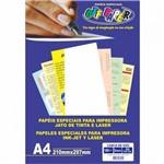 Papel Linho Branco 180g 50 Folhas Off Paper