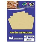 Papel Metalizado A4 Ouro 150g Off Paper 15 Folhas