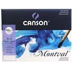 Papel Montval Canson 24 X 32cm 300 G/m 8 Folhas Grana Fina