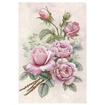 Papel para Arte Francesa Litoarte 31,1x21,1 AF-317 Rosas Buquê