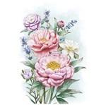 Papel para Arte Francesa Litoarte 31,1x21,1 AF-327 Rosas e Flores