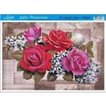 Papel para Arte Francesa Litoarte 21 X 31 Cm - Modelo Af-167 Rosas