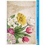Papel para Arte Francesa Litoarte 21 X 31 Cm - Modelo Af-259 Tulipa