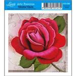 Papel para Arte Francesa Litoarte 10 X 10 Cm - Modelo Afx-350 Rosa Vermelha