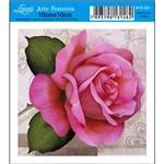 Papel para Arte Francesa Litoarte 10 X 10 Cm - Modelo Afx-351 Rosa Clara
