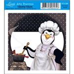 Papel para Arte Francesa Litoarte 10 X 10 Cm - Modelo Afx-284 Pinguin Cozinheira