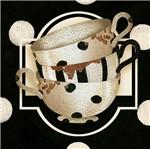 Papel para Arte Francesa Litoarte 10x10 AFX-382 Xícara Branco e Preto