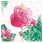 Papel para Arte Francesa Litoarte 21x21 AFQ-417 Flamingo Tropical com Coroa