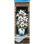 Papel para Arte Francesa Litoarte 22,8 X 62 Cm - Modelo Afve-017 Vaso Lirios I