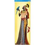 Papel para Arte Francesa Litoarte 22,8 X 62 Cm - Modelo Afve-055 Angolana C/ Arara Azul