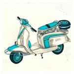 Papel para Arte Francesa Quadrada Litocart 20 X 20 Cm - Modelo Lfq-79 Motocicleta