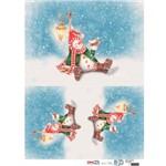 Papel para Decoupage de Natal Opa Opapel – 2534 – Boneco de Ne