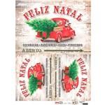 Papel para Decoupage de Natal Opa Opapel – 2535 – Camionete Nat
