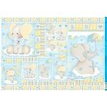 Papel para Decoupage PD 986 Elefante Bebê Menino