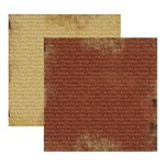 Papel Scrap Basico Vintage Marrom Musical KFSB179 - Toke e Crie By Flavia Terzi