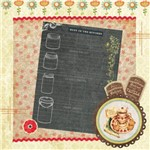 Papel Scrap Decor 16,5x16,5 Lousa e Flores Lscp-014 - Litoarte