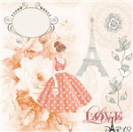 Papel Scrap Decor 16,5x16,5 Love Paris Lscp-003 - Litocart
