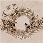 Papel Scrap Decor 16,5x16,5cm Borboleta com Flores e Pássaros Lscp-020 - Litocart