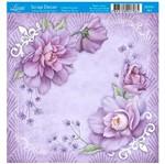 Papel Scrap Decor Folha Simples 15x15 Cantoneira Rosas Sdsxv-061 - Litoarte